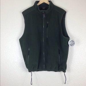 New Men's L.L. Bean Forest Green Vest Size 2XL